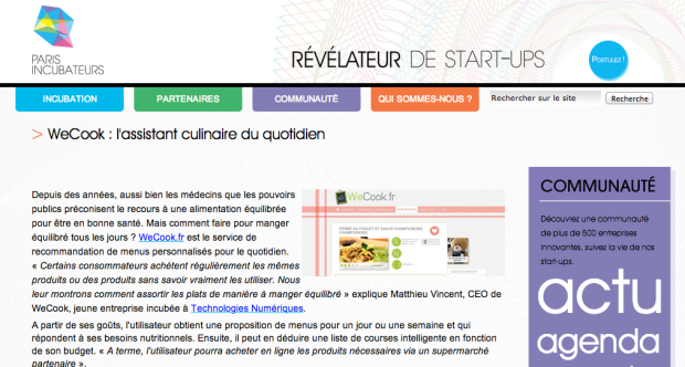 Article ParisIncubateurs